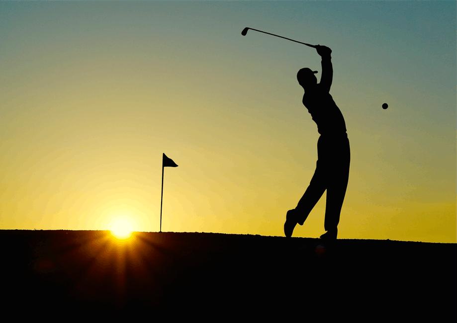 Golf Solnedgång Spanien